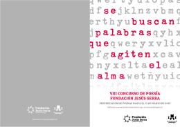 Descargar folleto - VIII Concurso de Poesía Fundación Jesús Serra