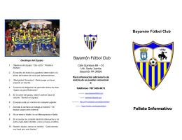 Bayamón Fútbol Club Folleto Informativo