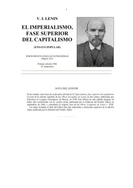 Lenin - El imperialismo, fase superior del capitalismo