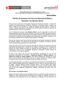 """Concurso """"Los Abuelos Ahora"""""""