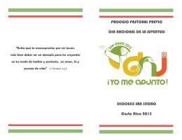 Día nacional de la juventud: material formativo