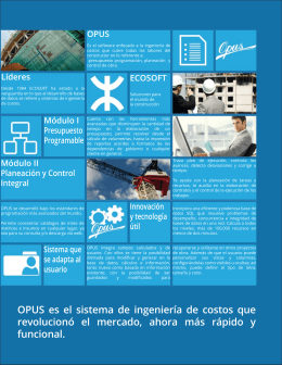 Folleto de OPUS 2014 en PDF