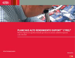 PLANCHAS ALTO RENDIMIENTO DUPONT™ CYREL®