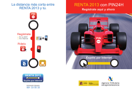 Folleto Renta 2013 con PIN24H