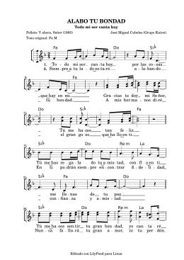 ALABO TU BONDAD - Cancionero Litúrgico