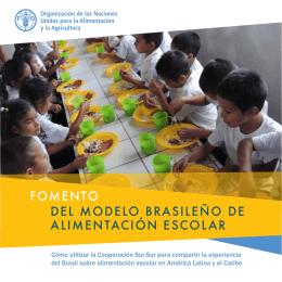 fomento del modelo brasileño de alimentación escolar