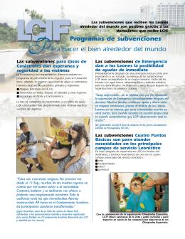 Folleto de los programas de subvención de LCIF (lcif122a)