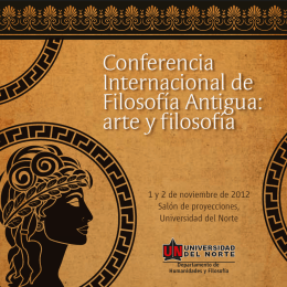 Folleto Conferencia Filosofia Antigua