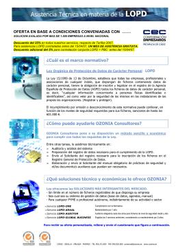 Folleto LOPD web - Asociación de Empresarios de Conil