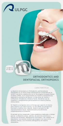Folleto Maestría Universitaria en Orthodontic and