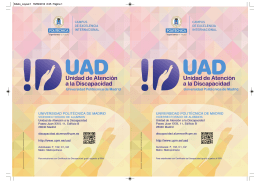 Folleto UAD