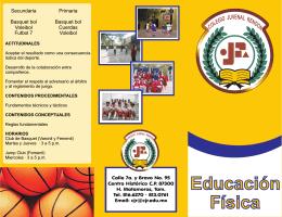 Folleto Educacion Fisica 0708