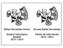 Rafael Hernández School Student Information Booklet 2013 / 2014