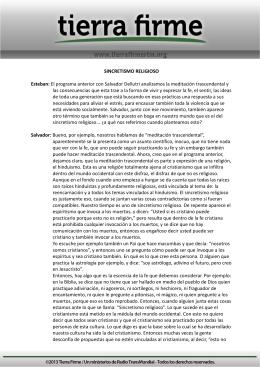 SINCRETISMO RELIGIOSO Esteban: El programa anterior con