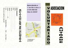 folleto voluntariado