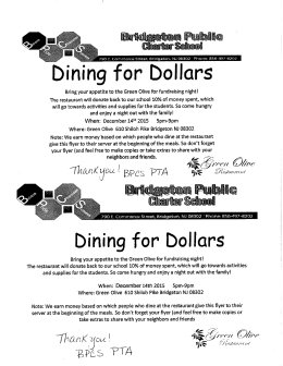 Thursday, Nov. 19th, 2015 - Bridgeton Public Charter School