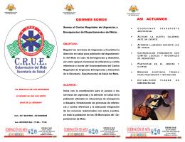QUIENES SOMOS ASI ACTUAMOS - Secretaria de Salud del Meta