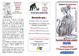 Enlace folleto elaborado Ordenanza Municipal tenencia animales