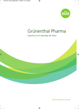 Folleto Corporativo Grünenthal Pharma S.A.
