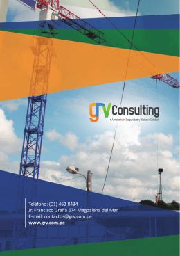 Descarga Nuestro Brochure - GRV Consulting Soluciones Integrales