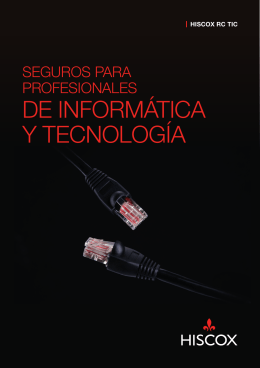 Folleto informativo Hiscox RC TIC