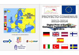 ENTIDADES COLABORADORAS: - Digital Print of Europe