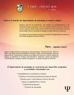 Folleto Psicologia - Colegio Jordán de Sajonia