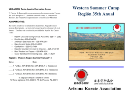 Arizona Karate Association Western Summer Camp Región 35th