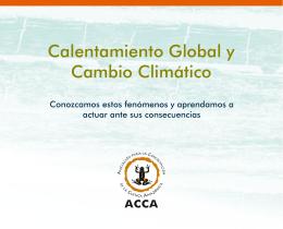 CAMBIO CLIMÁTICO FOLLETO ACCA