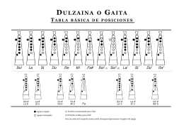 Folleto dulzaina new