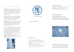 IV curso de introducción a las revisiones sistemáticas.