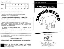 Juego: Tapirómetro - Fundación AndígenA