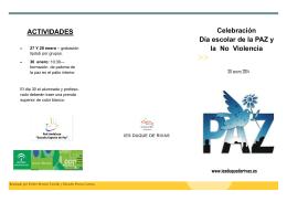 folleto dia paz 2014 - Conviviendo en el Duque de Rivas