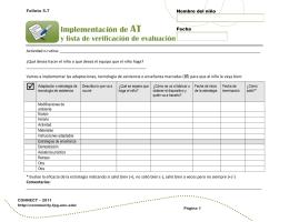 Implementación de tecnología de asistencia y lista de verificación