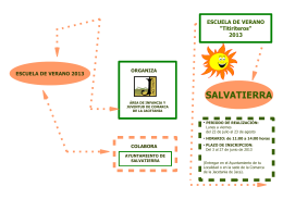 2013 – Escuela de Verano – Folleto Salvatierra