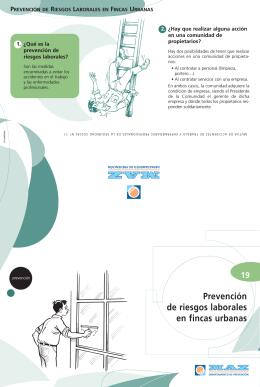 MAZ | Folleto 19 | Prevención de riesgos laborales en fincas urbanas
