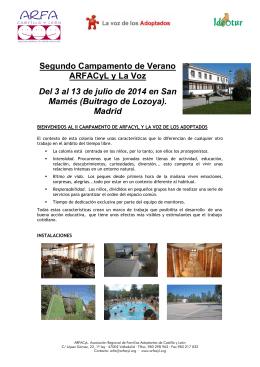 Folleto II Campamento ARFACyL