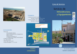 FOLLETO CARTA DE SERVICIOS SIE