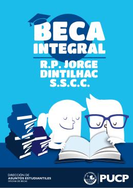 Folleto Informativo Beca JORGE DINTILHAC 2015