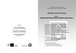 BICENTENARIO Concursos. Folleto Est. Diseño