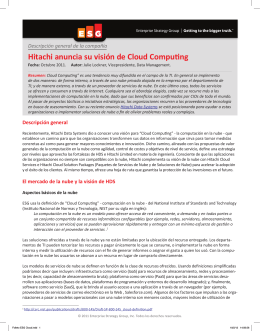 Hitachi anuncia su visión de Cloud Computing