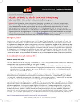 Hitachi anuncia su visión de Cloud Computing