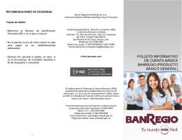 folleto informativo de cuenta básica banregio (producto básico