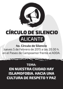 folleto 4º Circulo de Silencio 5-02-2015