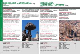 Barcelona, Andalucía - Levante