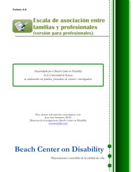 Folleto 4.8: Escala de asociación entre familias y profesionales