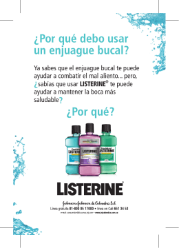 Folleto Paciente LISTERINE