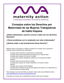 Consejos sobre los Derechos por Maternidad de las Mujeres