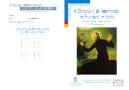 Centenario San Francisco de Borja - Folleto.pmd