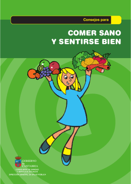 comer sano y sentirse bien - Consejería de Sanidad del Gobierno